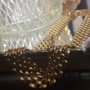 1980s Statement Necklace: Gold-tone Chain